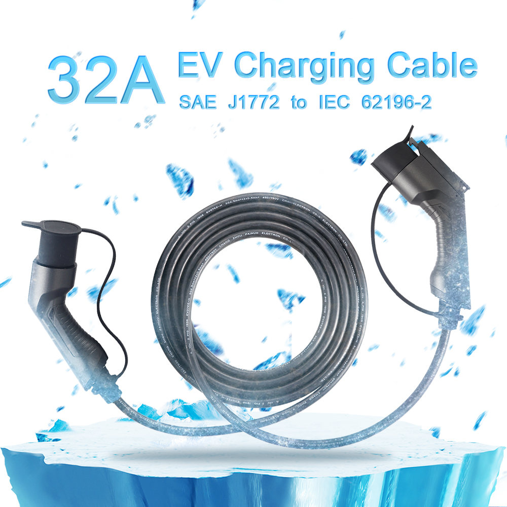 Sae j1772 to IEC 62196 Charging Cable 32A, 5meters