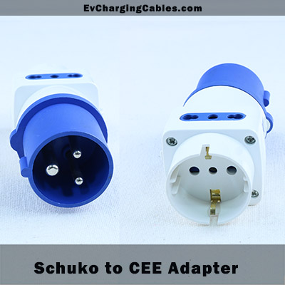 Schuko to CEE plug Adapter