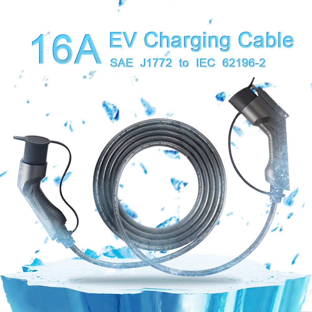 Sae j1772 to IEC 62196 Charging Cable 16A, 5meters