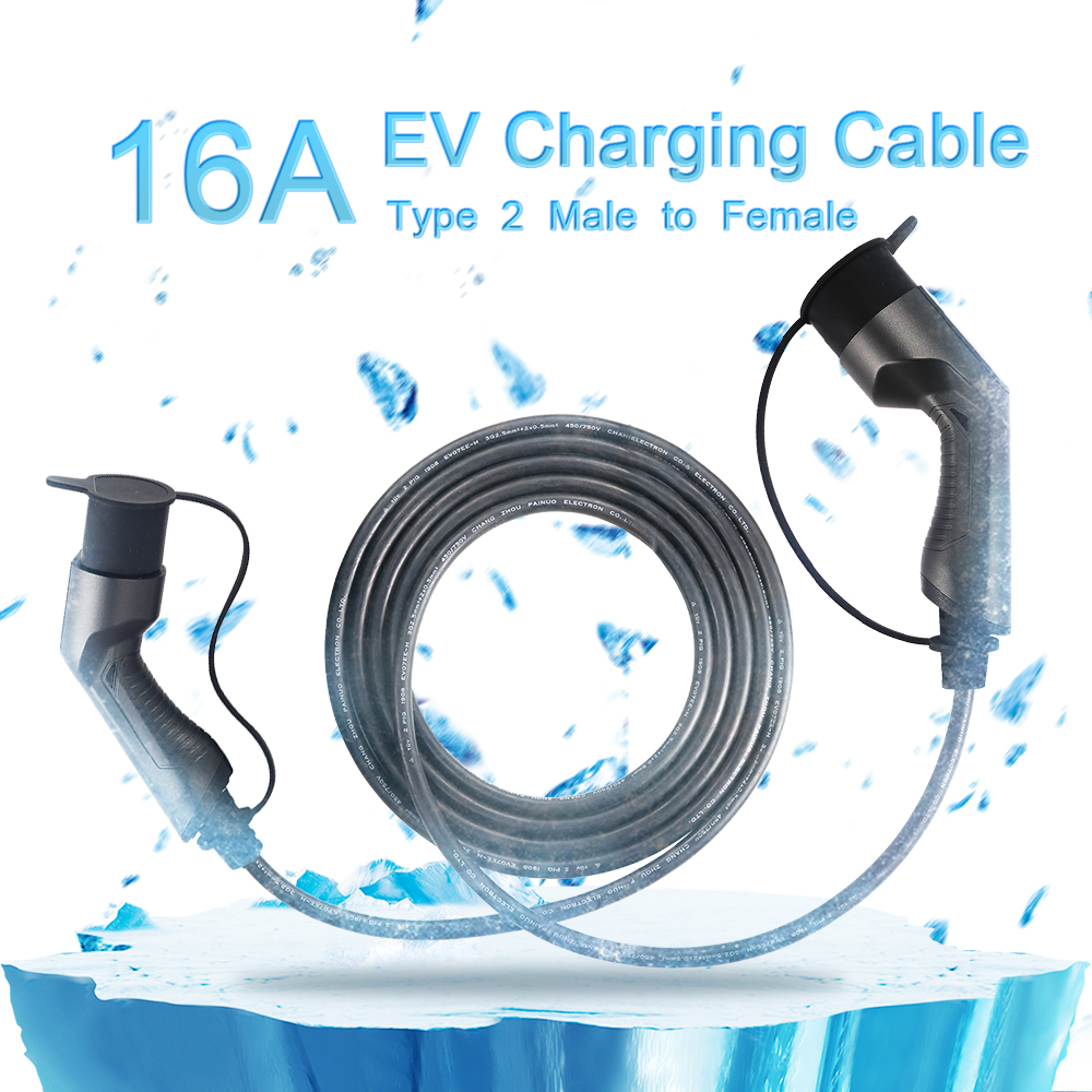 IEC62196-2 Male to Female 16A Ev Charging Cable, 5meters