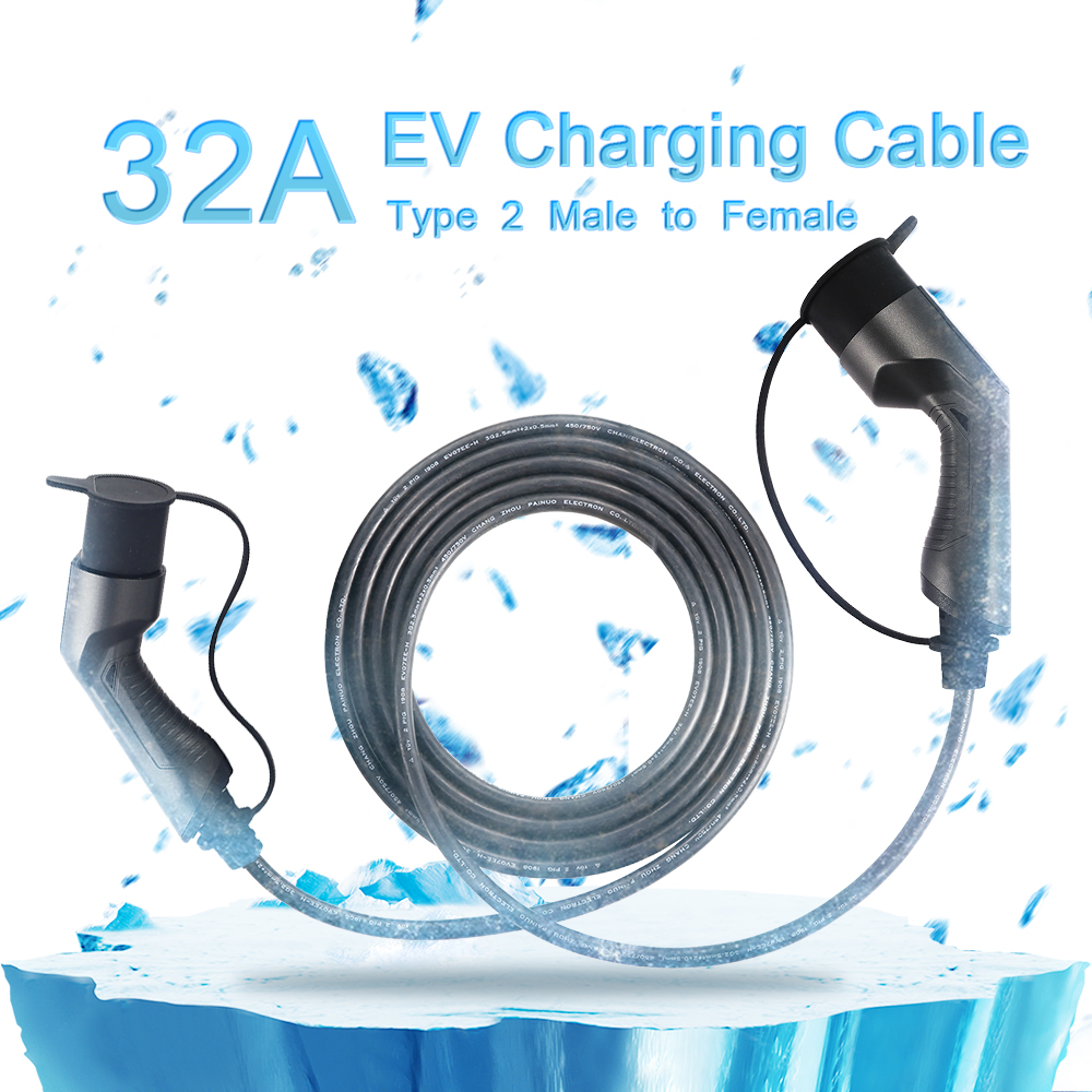 IEC62196-2 Male to Female 16A 3Phase Ev Charging Cable, 5meters