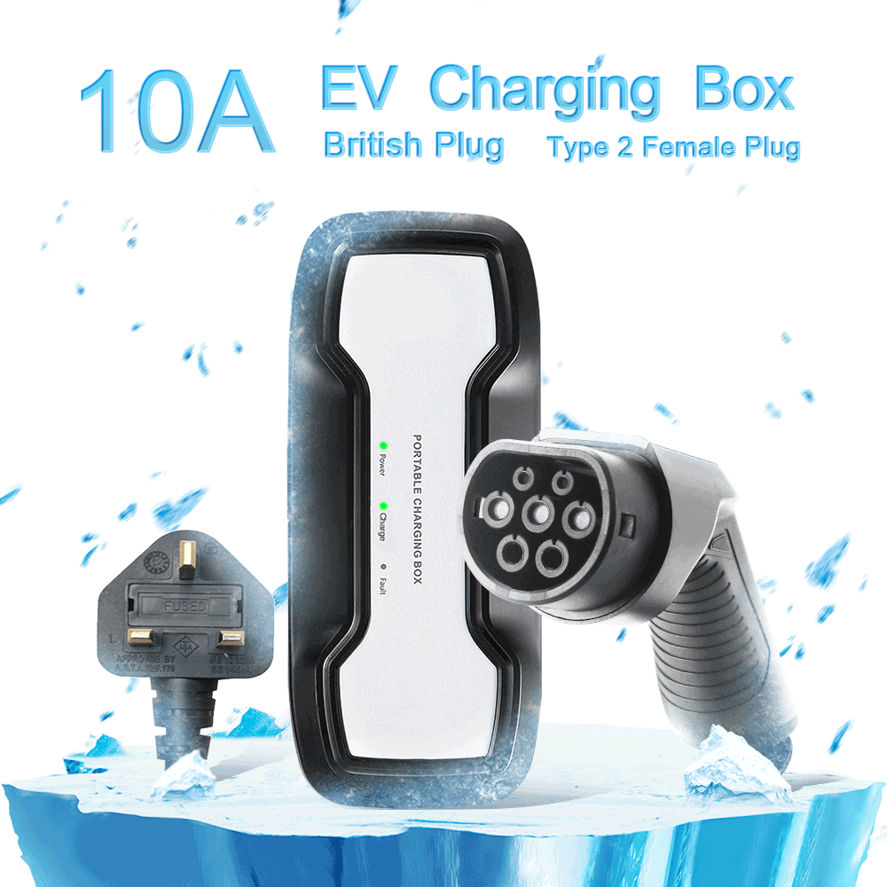 IEC 62196-2 10A Portable EV Charger + UK 3Pin Plug