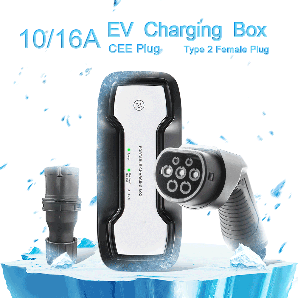 IEC 62196-2 10/16A adjustable Portable EV Charger + CEE Plug