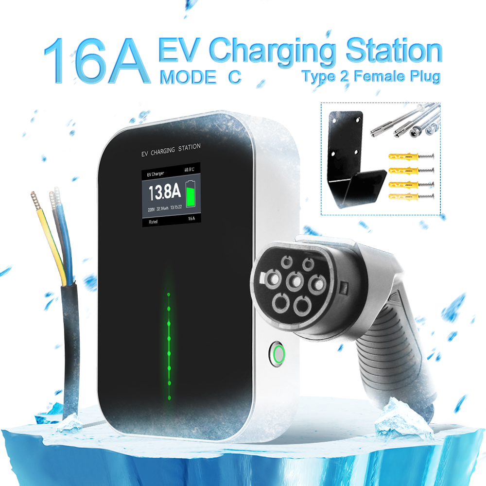 NEW 16A EV Charging Station with Type2 Plug(button switch)