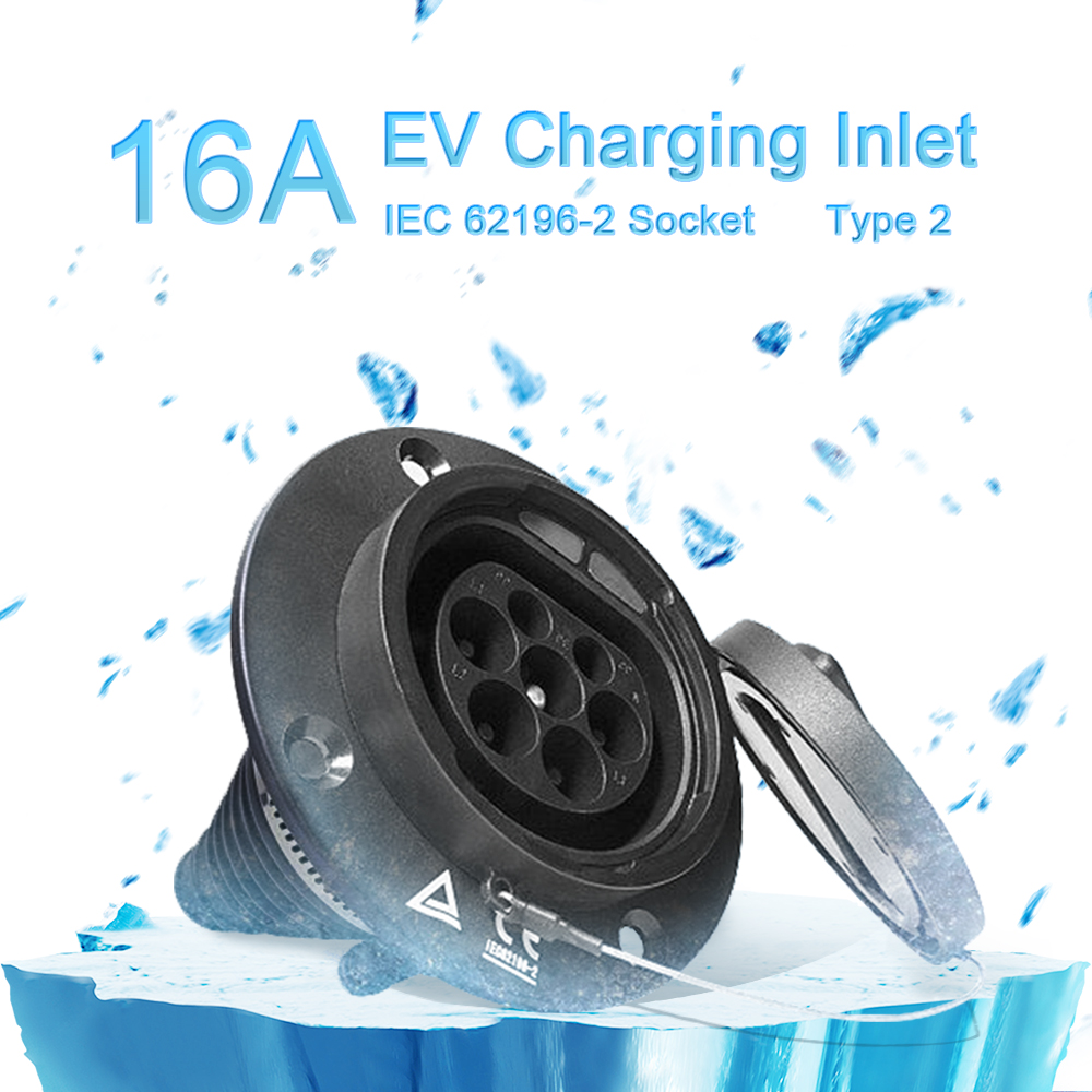 IEC 62196-2 Type2 4Point Fixing Socket 16Amp Inlet (EV Side)